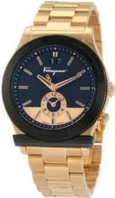 Ferragamo F62LDT5219 S080 1898 Gold Plated Dual Time