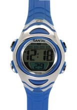 Santai Chronograph Waterproof Alarm Blue Strap Sport Style es