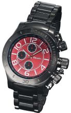 Black Bracelet Multifunction Red Dial Day Date Sarastro AQ101140G