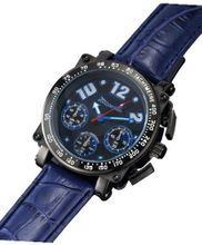 Blue Quartz Chronograph Leather Large Face Sarastro AQ201856G