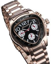 Gents Rose Gold Bracelet Triangle Dial Multifunction 24 Hr Day Date Sarastro AQ202495G
