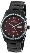 Sartego SBBG11 Classic Analog Burgundy Face Dial Black Stainless Steel