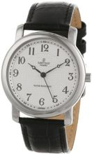 Sartego SEN554B Toledo Analog White Face Leather Band