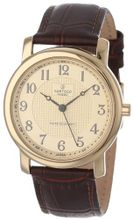 Sartego SEN555R Toledo Analog Gold Face Leather Band