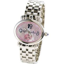 Scorva Solid Stainless Steel With Steel Bracelet Swiss Movement From Ovalante. Perfect Gift For Christmas, Valentines Day, Mothers Day Ovalante Pink STP1005
