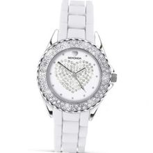 Party Time by Sekonda white silicon with Diamante Heart 4606