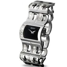 Seksy Curve by Sekonda Black Dial Stone Set Bracelet Ladies 4722