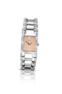 Seksy Wrist Wear by Sekonda Quartz with Peach Dial Analogue Display and Silver Stainless Steel Bracelet 4709.37