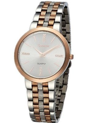 Semdu SD9028G Rose Gold Stainless Steel White Dial Two-Tone