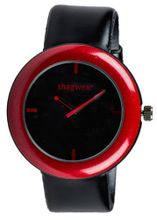 Trendy Large Dial Buckle Strap by Shagwear Red & Black
