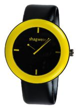 Trendy Large Dial Buckle Strap by Shagwear Yellow & Black