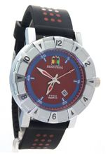 SHAO PENG Date Blue Red Dial Stainless Steel Water Resistant Polka Dot Analog Quartz es