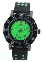 SHAO PENG Date Green Popular Polka Dot Black Rubber band Analogue Quartz es