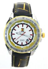 SHAO PENG Date Stationary Bezel Multicolour Leather Strap Analogue Quartz es