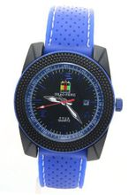SHAO PENG Fashion Date Blue Rubber Strap Buckle Water Resistant Analogue Quartz es