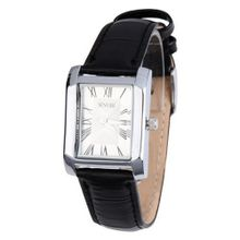 Sinobi Elegant Leather Band White Dial Couple  Lover Japan Quartz Wrist