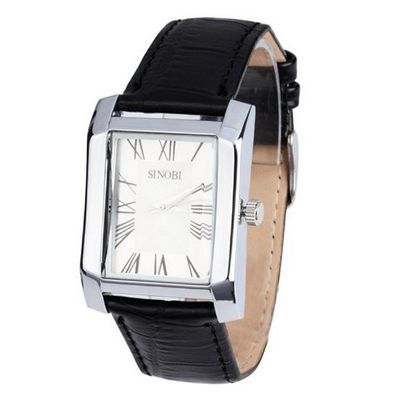 uSINOBI Sinobi Elegant Leather Band White Dial Couple  Lover Japan Quartz Wrist