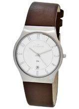 Skagen 233XXLSL Stainless Steel Leather Strap