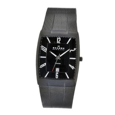 Skagen 851LTBB Skagen Denmark Black Titanium Rectangle