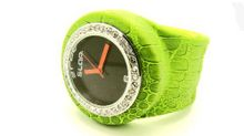 uSlap Watch Slap Green Crocodile Wild Bling
