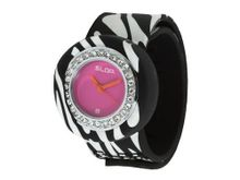 uSlap Watch Slap Jr Black & White Zebra Wild Bling