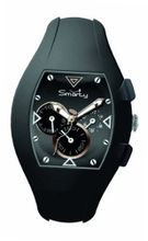 Smarty Chrono Unisex Quartz with Black Dial Chronograph Display and Black Silicone Strap SW040B
