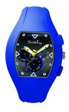 Smarty Chrono Unisex Quartz with Black Dial Chronograph Display and Blue Silicone Strap SW040E