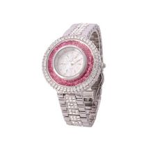 Smays Big Dial Full Crystal Fashion Female A1169 -Silver Pink