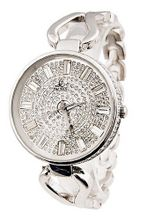 Smays Big Round Dial  es - Retro Element and Full Rhinestone A511 - Silver