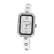 Smays Ladies White Ceramic Diamond