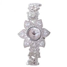 Smays Personality White Flower Rhinestone Female A207 -Silver