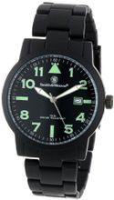Smith & Wesson SWW-167 Pilot Basic Round Black Face with Black Stainless Steel Strap, Black