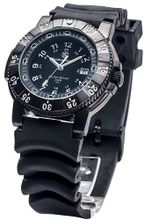 Smith & Wesson SWW-357-R 357 Diver Swiss Tritium H3 Black Dial Rubber Band