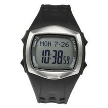Solus Unisex Digital LCD Dial Date Backlight Black PU Casual SL-100-001