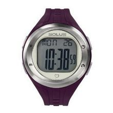 Solus Unisex Digital LCD Dial Date Backlight Plum PU Casual SL-900-004