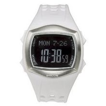 Solus Unisex Digital LCD Dial Date Backlight White PU Casual SL-100-002