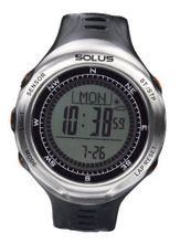 Solus Unisex Digital with LCD Dial Digital Display and Black Plastic or PU Strap SL-110-002