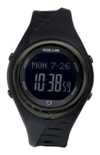 Solus Unisex Digital with LCD Dial Digital Display and Black Plastic or PU Strap SL-300-007