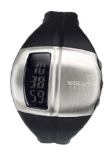 Solus Unisex Digital with LCD Dial Digital Display and Black Plastic or PU Strap SL-810-001