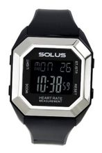 Solus Unisex Digital with LCD Dial Digital Display and Black Plastic or PU Strap SL-840-001