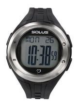 Solus Unisex Digital with LCD Dial Digital Display and Black Plastic or PU Strap SL-900-001