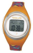 Solus Unisex Digital with LCD Dial Digital Display and Orange Plastic or PU Strap SL-800-010