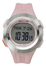 Solus Unisex Digital with LCD Dial Digital Display and Pink Plastic or PU Strap SL-101-004