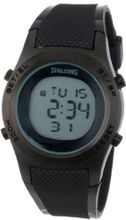 Spalding Unisex SP4000-011 The Grip Textured Black Strap Digital