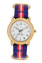 Sperry Top-Sider 103257 Gold Tone Multicolor Nylon Strap