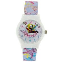 Spongebob Squarepants Girls - Childrens Analogue Pu Strap SB048