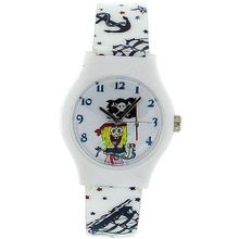 Spongebob Squarepants Quarz Analogue Pirate Theme Boys PU Strap SB046