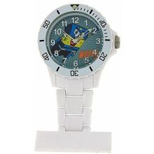 Spongebob Squarepants Water Resistant White Nurses Rotating Bezel Fob SB36