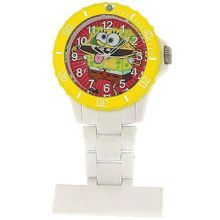 Spongebob Squarepants Water Resistant White Nurses Rotating Bezel Fob SB38