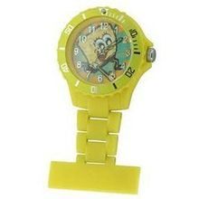 Spongebob Squarepants Water Resistant Yellow Rotating Bezel Nurse Fob SB35